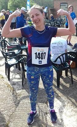 Laura running her 10k