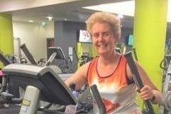 Claire on running machine